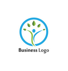 Human character logo sign design vector