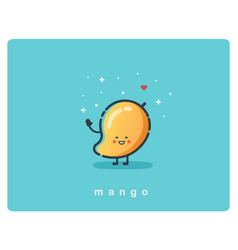 icon of mango fruit funny cartoon character vector image