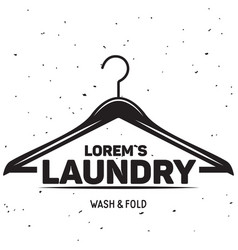 laundry logo emblem design element vector image vector image