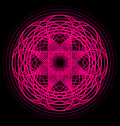 Magenta abstract shape vector