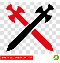 Medieval Swords Eps Icon vector image