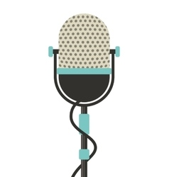 microphone retro isolated icon vector image