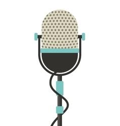 microphone retro isolated icon vector image