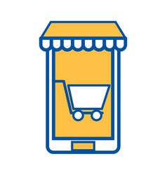 mobile phone store commerce online digital concept vector image
