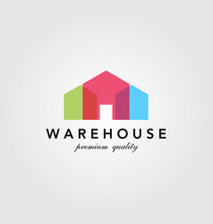 modern warehouse barn building colorful logo vector image