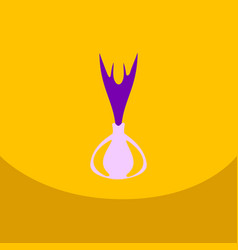 onion icon in flat style onion vector image