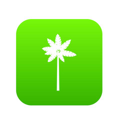 Palm woody plant icon digital green vector