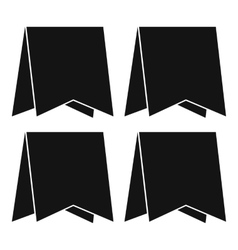 Pennants icon simple style vector