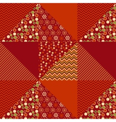 Red xmas abstract background in patchwork style vector