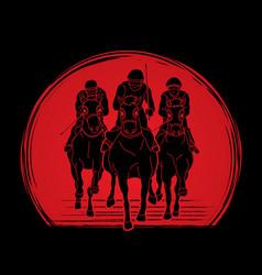 Riding horse race horse jockey equestrian vector