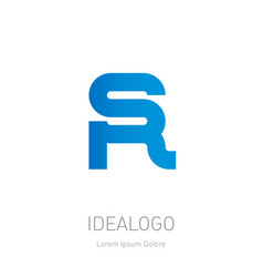 s and r logo sr - design element or icon monogram vector image