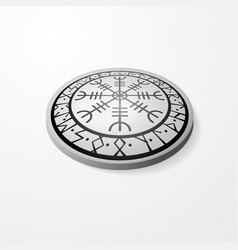 scandinavian symbol stone with shadow vector image