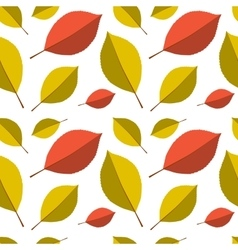 Seamless autumn leafs pattern vector image