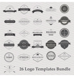 set of vintage camping logo vector image