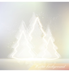 Shiny winter background vector