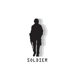 soldier black text soldier background image vector image