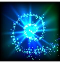 Sparkle swirl vector image