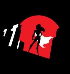 superheroine background symbol vector image