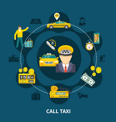 Taxi pool round composition vector