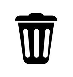 trash icon icon simple element trash symbol vector image