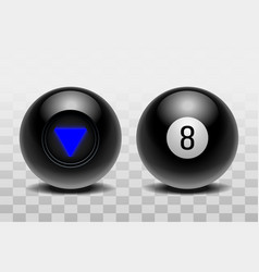 two magic balls predictions for decision-making vector image