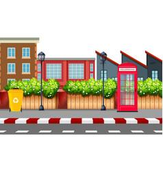 urban street day time scene vector image