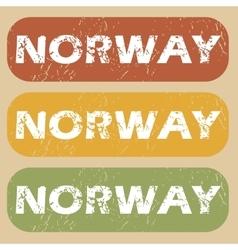 Vintage Norway stamp set vector