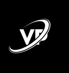 Vp v p letter logo design initial letter vp vector