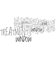 Window treatments text word cloud concept vector