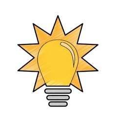 Yellow bulb icon vector