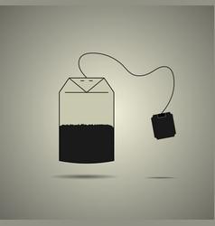 disposable tea bag icon vector image