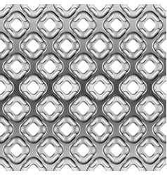 Glossy metallic grid with shadow seamless pattern vector