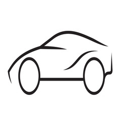 Car outline4 resize vector image vector image