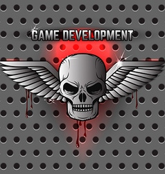 game development logo template vector image