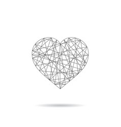 heart abstract icon - linear design vector image