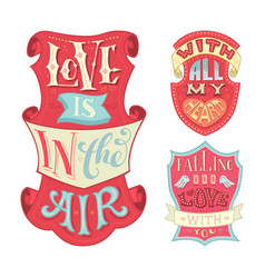 love is in the air with all my heart falling in vector image vector image