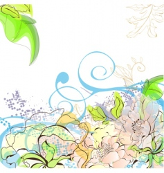 romantic floral background vector image vector image