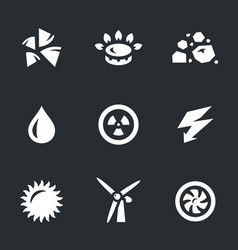set of energy source icons vector image