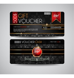 Voucher Gift Card layout template for your vector image vector image