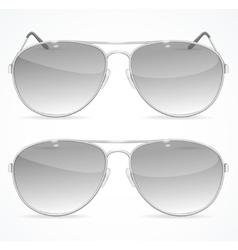Aviator sunglasses set vector