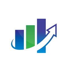 business finance chart arrow vector image