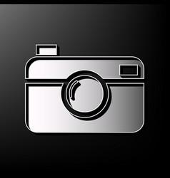 digital photo camera sign gray 3d printed vector image vector image