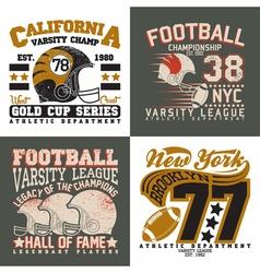 set of tee shirt print designs vector image vector image