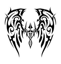 wings tattoo in tribal art style angel wings vector image