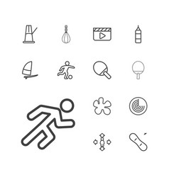 13 action icons vector