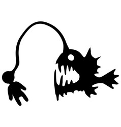 Anglerfish lure stencil vector