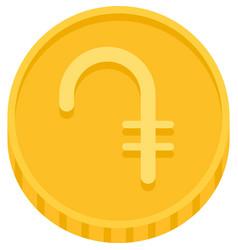 Armenian dram coin monetary unit armenia vector