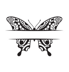 beautiful butterfly template vector image