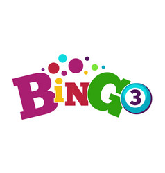 Bingo game colorful poster with ball with number vector