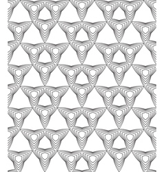 Black and white abstract geometric seamless patter vector